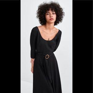 Zara Linen Belted Dress